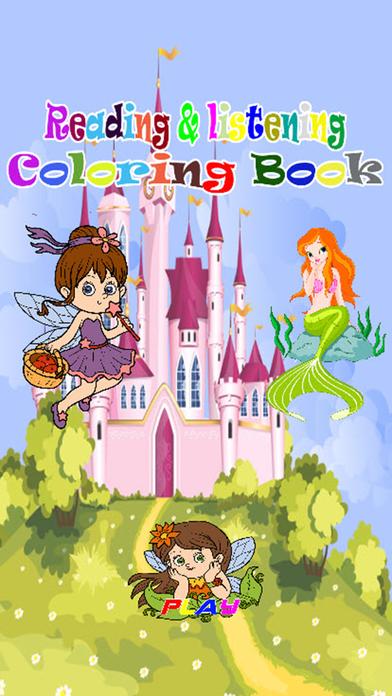 孩子的读书和听的着色书比赛