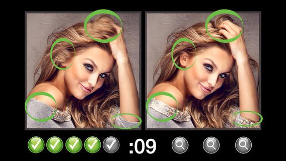 现货的差异的照片追捕游戏