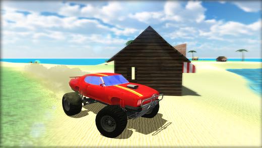 水冲浪怪物卡车 - 极限特技赛车