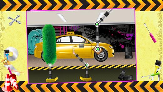 出租车维修店 - 修复汽车的汽车在这个机械车库游戏