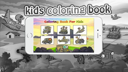 图画书(士兵):着色页与学习教育游戏为孩子们免费!