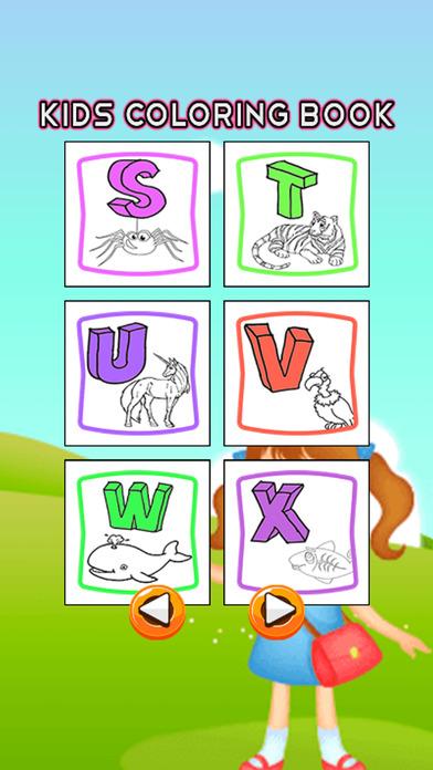ABC字母着色书