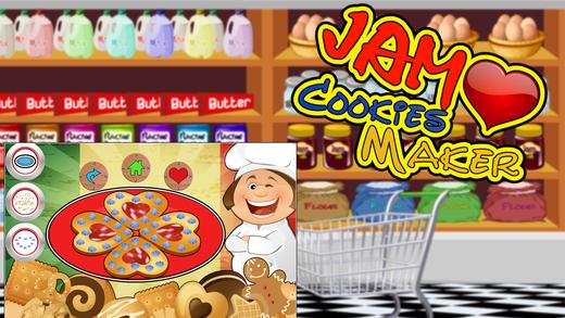 果酱饼干心脏制造商 - 烘烤食品的狂欢节在此烹饪比赛的孩子们