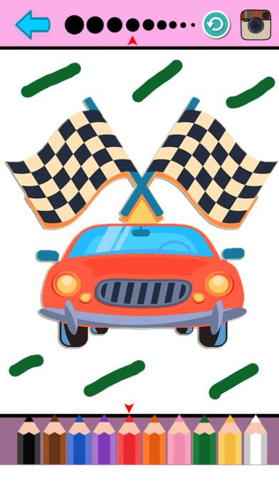 车辆及汽车彩图图纸游戏为孩子