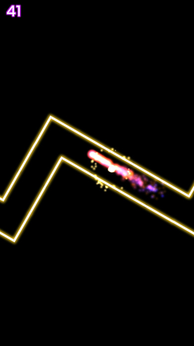 摇滚轨迹火流星在黑暗酷炫的霓虹世界中跟随节奏前进