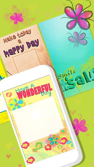 问候卡 制作者 – 创造 ''祝你今天愉快'' 明信片 和 邀请函