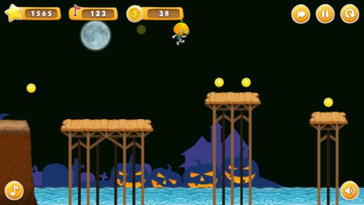 南瓜人运行 - 无尽的战斗机空战游戏