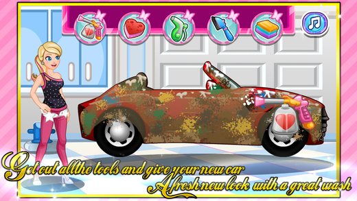 宝贝游戏-跑车清洁与装饰