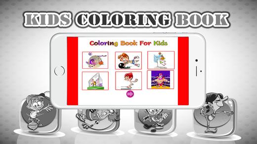 图画书(体育):着色页与学习教育游戏为孩子们免费!
