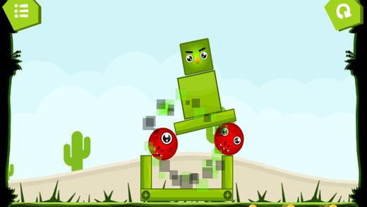 冲击波盒帮助小鸟的物理游戏的孩子
