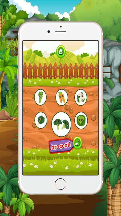学习英语初学者:蔬菜类:为孩子们学习游戏 - 免费的!