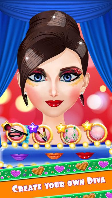 耍大牌时尚沙龙 - 打扮的女孩,化妆与温泉游戏