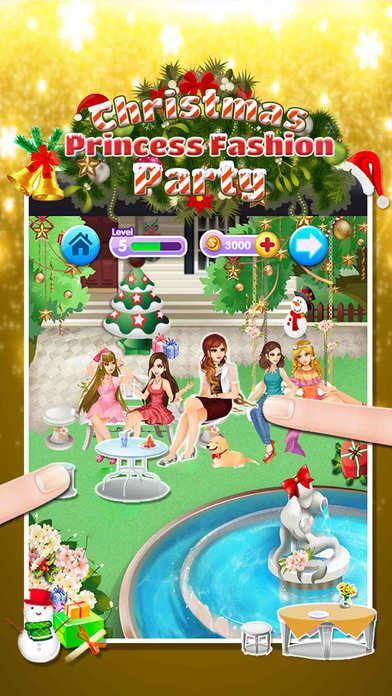 公主的圣诞派对 - 时尚女孩沙龙