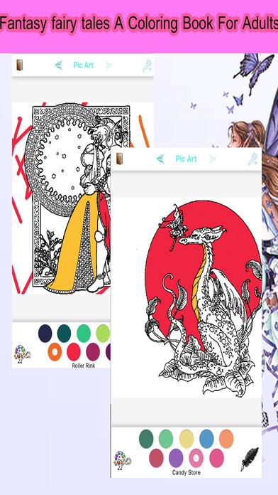 仙女幻想故事 - 成人着色书