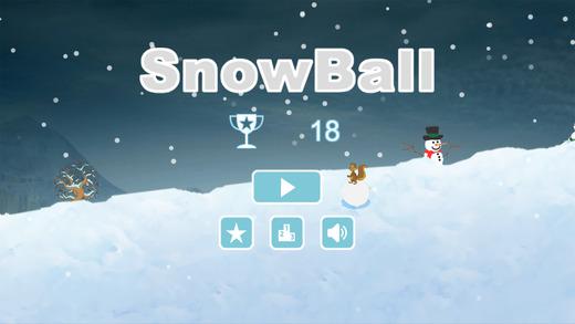 雪地滚雪球