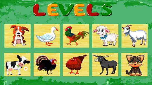 农场动物的益智游戏为孩子们
