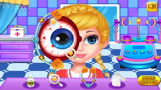 美女眼科手术