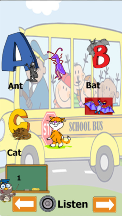 ABC拼音英语词汇学习的孩子和孩子