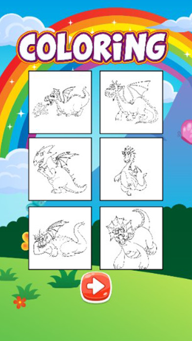 龙游戏着色涂料书