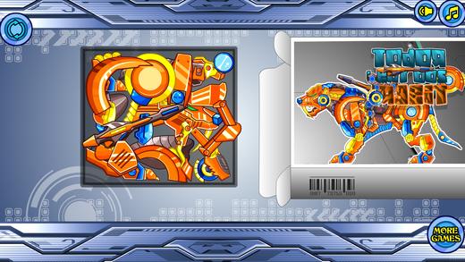 拼装机器老虎:机器动物园系列——组装、拼图游戏