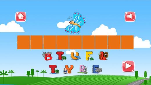 拼写游戏为儿童 - 学习的动物词汇免费