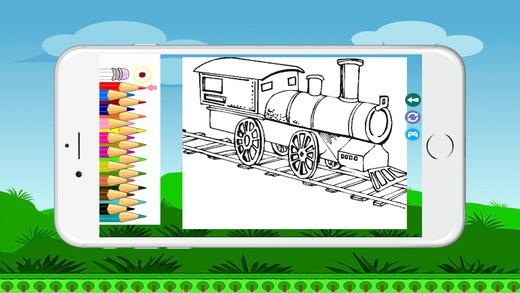 火車著色書頁免費為孩子