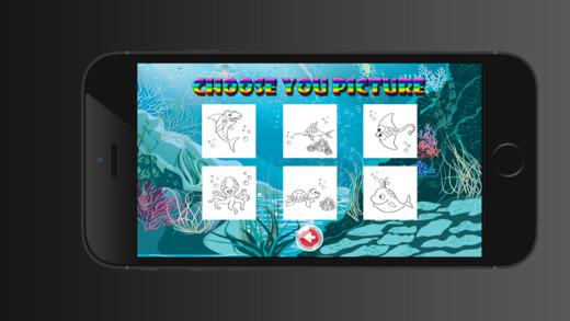海底世界的海洋动物彩图对于男孩女孩幼儿免费