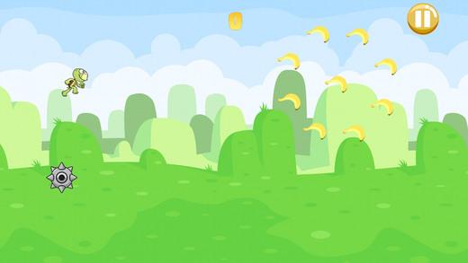 可爱乌龟绿地跳