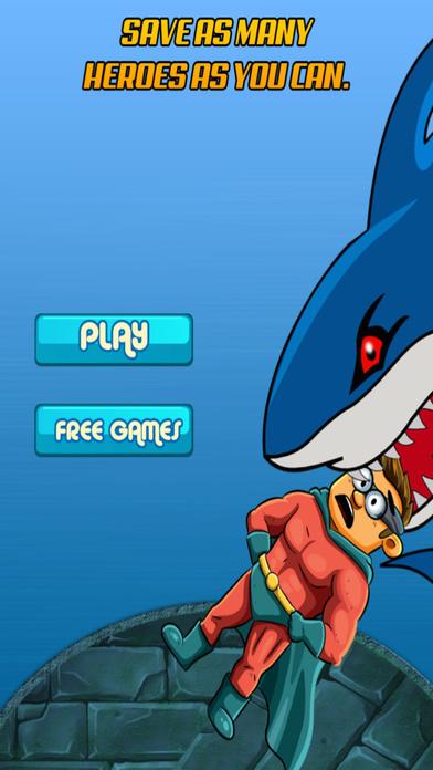 深六普英雄 - 大跳跃过愤怒的鲨鱼历险 免费