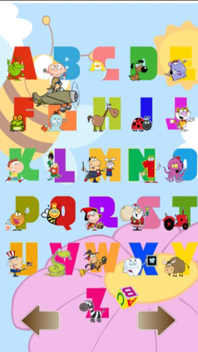 ABC学习的孩子和英语词汇的孩子