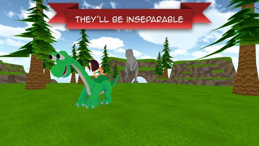恐龙阿洛 和 类人猿男孩 -  自由 卡通 冒险游戏 为孩子们