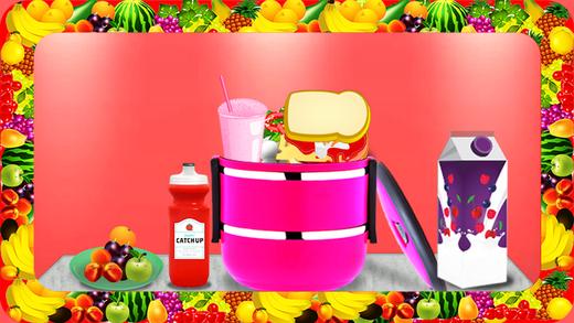 三明治饭盒 - 做午餐学校的孩子们在这个疯狂的食品制造商的游戏