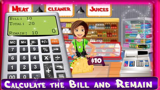 快餐现金注册纪录儿童收银员职业好玩的游戏