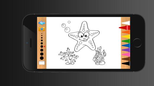 海洋動物兒童圖畫書 - 教育學習遊戲為孩子和幼兒