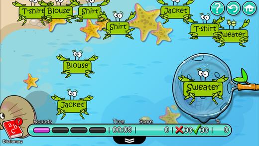 儿童英语-Mingoville中的'颜色和衣服'-益智游戏
