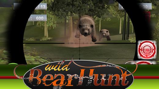 3D 的真实熊奖杯狩猎模拟器狙击精英 2015