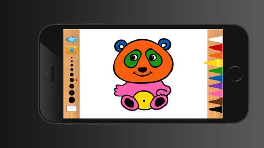 动物彩图对于男孩女孩和幼儿