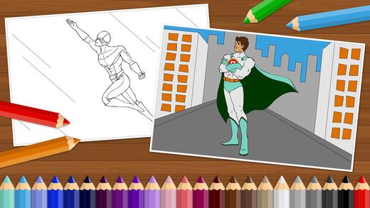 超级英雄 – 给小男孩和孩子们的涂色书