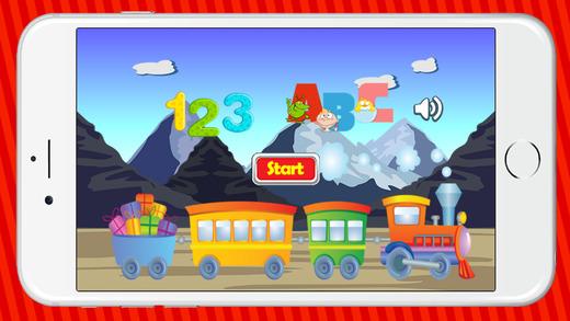 培训学习字母ABC字母游戏的孩子