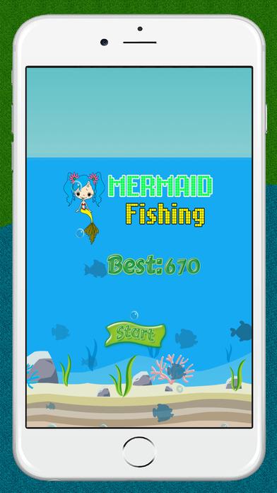 美人鱼海洋捕捞游戏的孩子