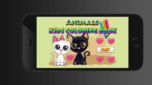 爱动物彩图对于男孩女孩幼儿