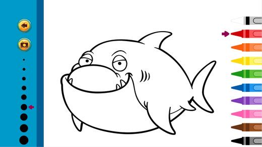 海洋动物图画书 - 教育着色游戏为幼儿及童装