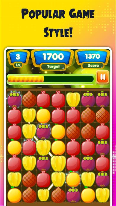 水果链接 - 果汁果连接和匹配3游戏