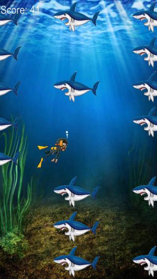 深海潜水运动 - 危险鲨鱼的追逐免费