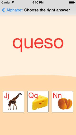 西班牙语字母卡和测验