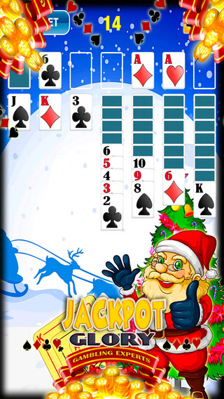 圣诞接龙免费游戏 Christmas Fun Snow Maker Santa Run Solitaire Classic Free Cards Game Casino Salon Solitaire Deluxe Edition