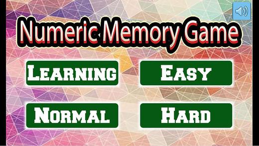 数字记忆游戏