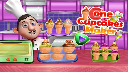 圆锥蛋糕制造商 - 甜食烹饪