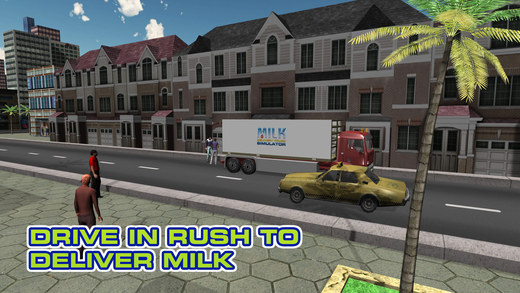 牛奶送货卡车模拟器 - 极端的卡车司机驾驶和停车游戏