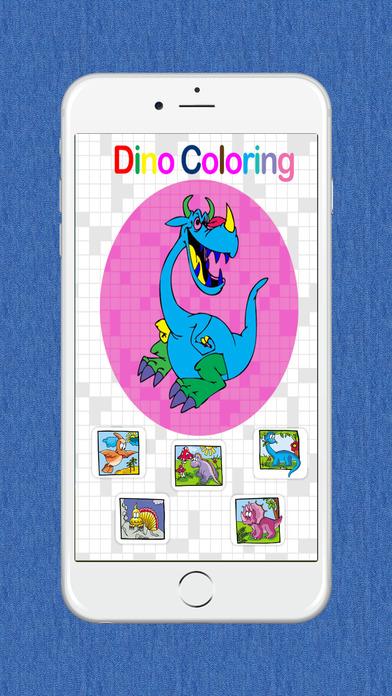 免费恐龙图画书为孩子们画上图画书页